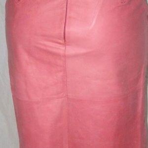 Banana Republic A-line Leather Skirt